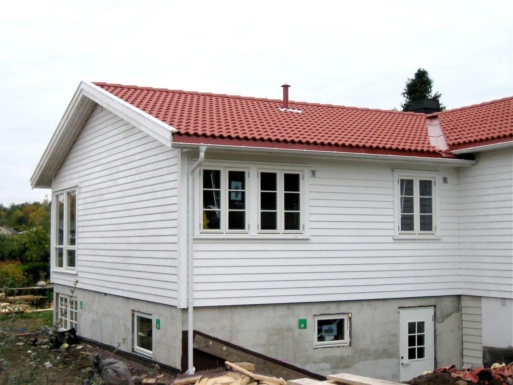 Tillbygg og nytt tak på enebolig i Horten